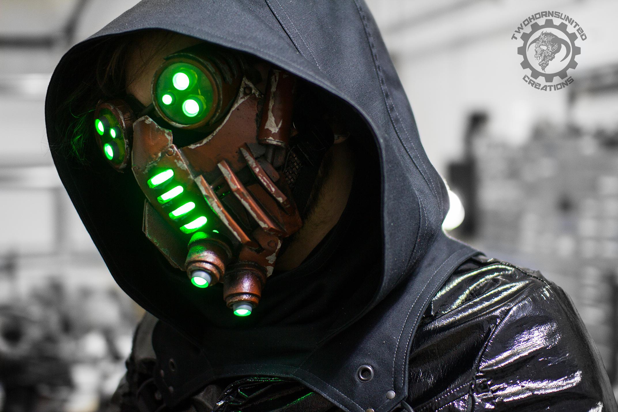 The Petrifier - Demon tech cyberpunk LED mask
