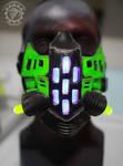 The Ravager Cyberpunk UV reactive LED mask