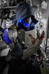 Hex Omega - RGB LED light cyberpunk armor