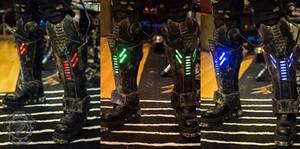 Dreadwraith RGB LED dystopian leg armor