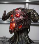 The Necrotron Helmet - RGB LED cyber devil