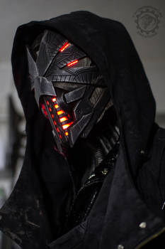 Erebus - Cyberpunk dystopian light up helmet