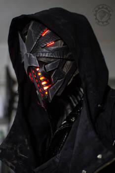 Erebus - Cyberpunk dystopian light up helmet