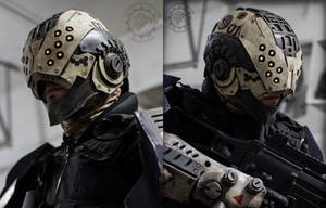 The Enforcer - Cyberpunk tactical LED Helmet