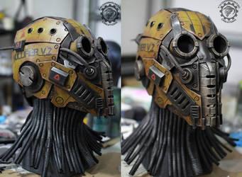 Nullifier robot helmet work in progress by TwoHornsUnited