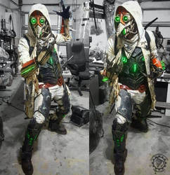 Nuclear winter Plague Doctor cyberpunk costume by TwoHornsUnited