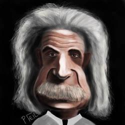 Einstein Caricature by Fuggedaboudit