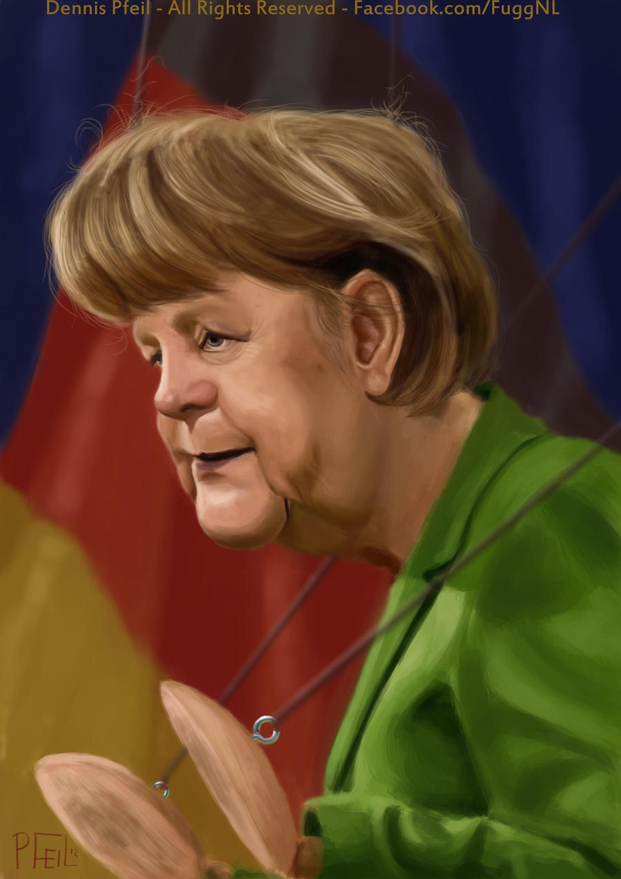 Image result for angela merkel caricature