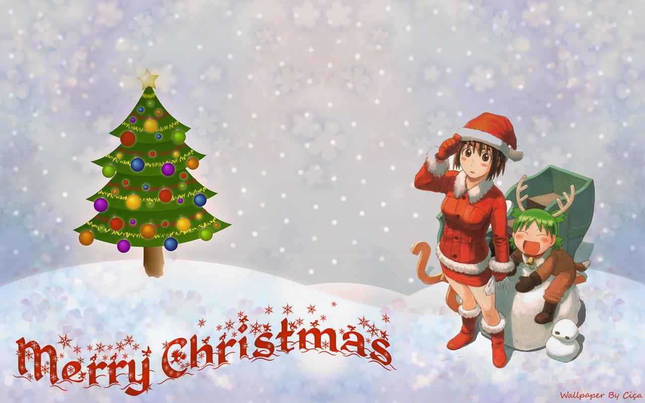Ciça's Coloring Pages - Página 3 Yotsuba_Christmas_Wallpaper_by_ceciliaj