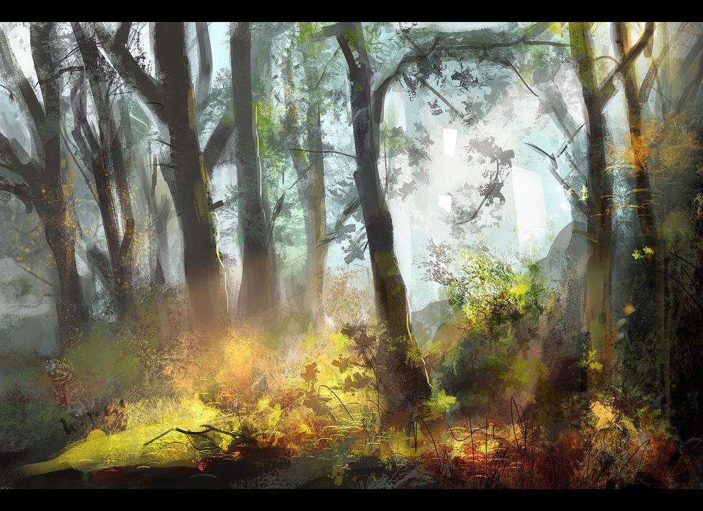 Woods study by bejzar