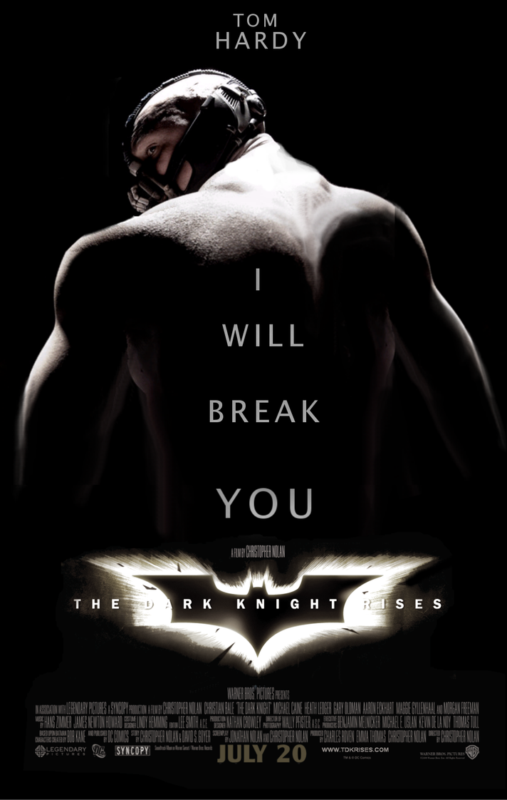 TDKR: Tom Hardy as Bane by Jo7a