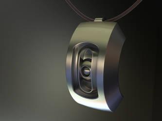 GLaDOS pendant by xQUATROx
