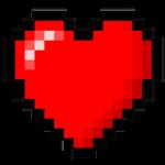 8-Bit heart stock
