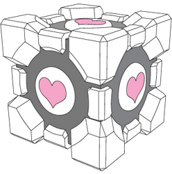 Companion Cube vector by xQUATROx