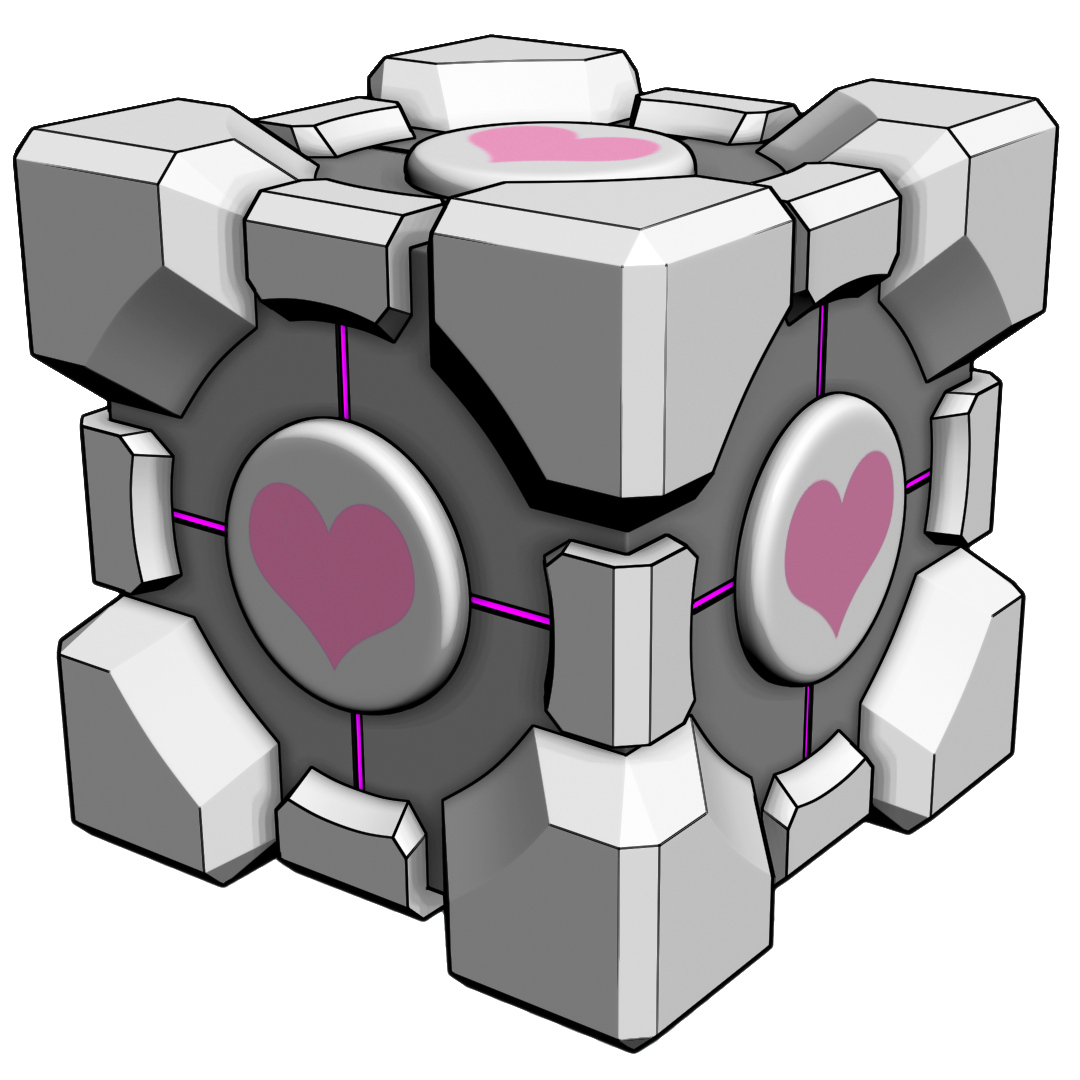 Toon Companion Cube Stock by xQUATROx