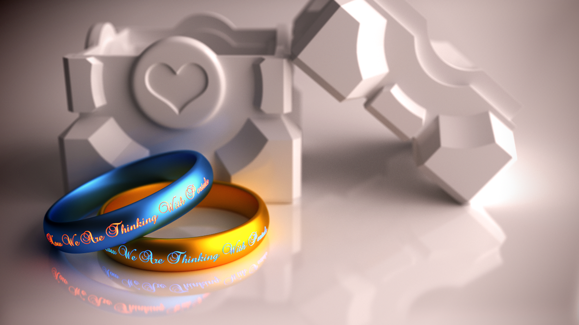 Portal Wedding Rings by xQUATROx