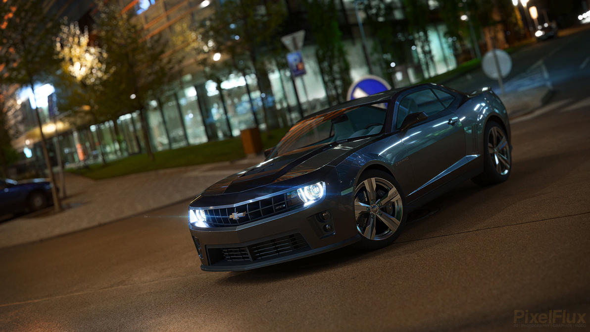 Chevrolet Camaro at night by xQUATROx