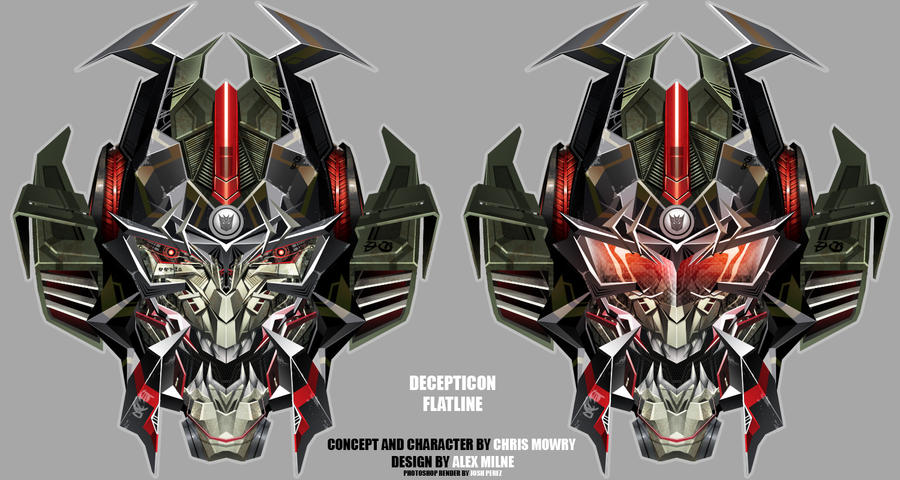 TotF Arcee Flatline head funs by dyemooch
