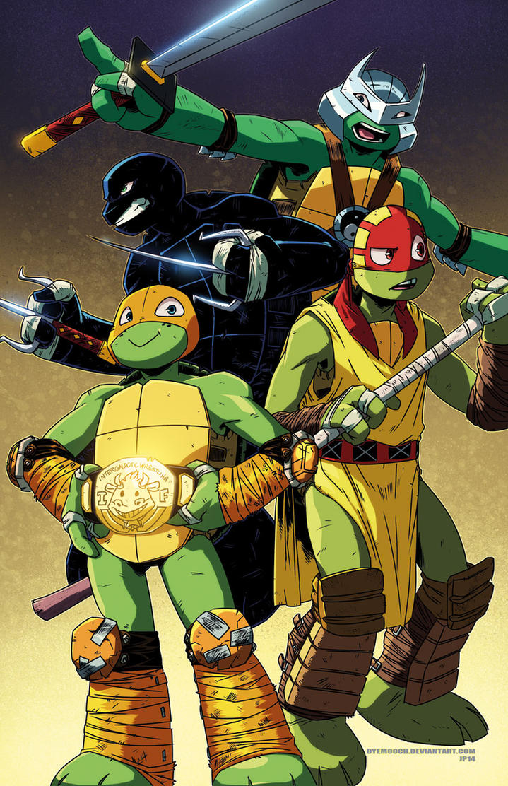 Nick TMNT in IWF costumes by dyemooch