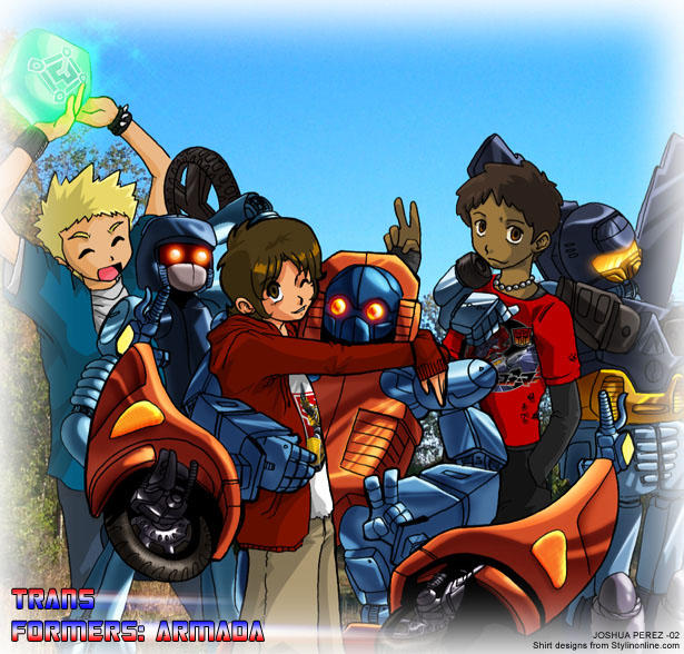 Transformers Armada kids by dyemooch