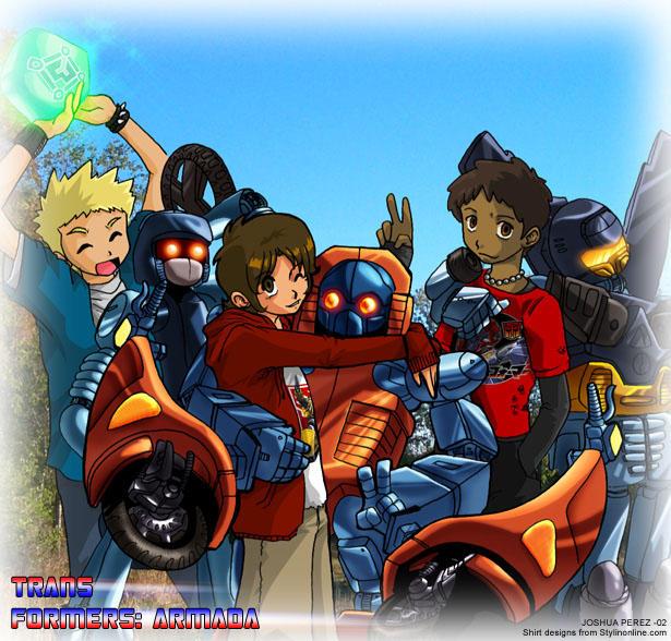 Transformers Armada kids by dyemooch