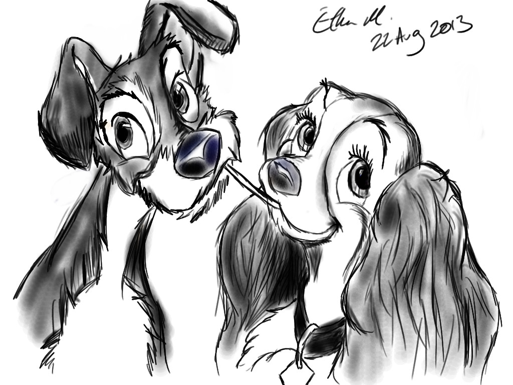Lady And The Tramp Sketch By Insanemac On Deviantart