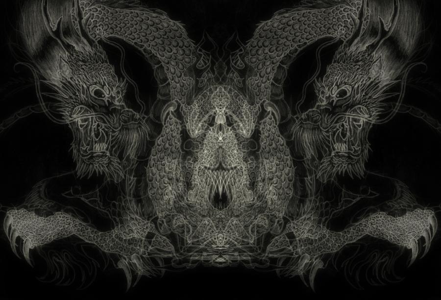 Darkness Chinese Dragon Wallpaper By Plenalunafera On