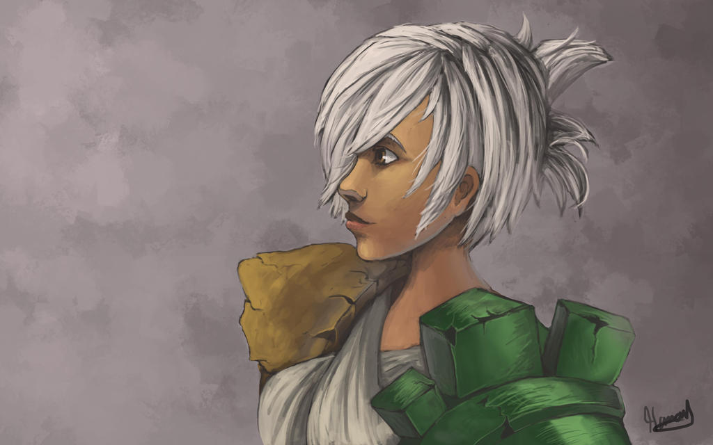 The final Peice of Riven drawing by Hamzilla15