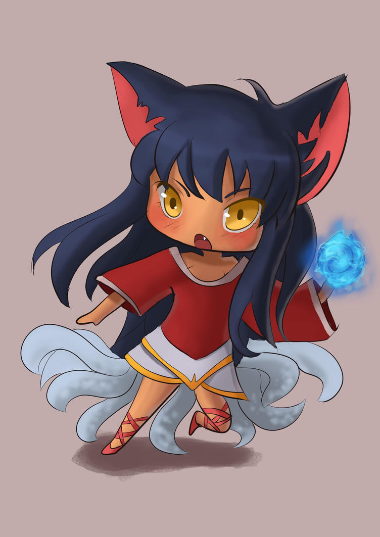 Ahri chibi :3 doing all the champs by Hamzilla15