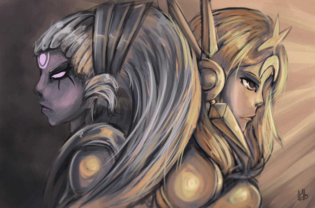 Diana vs Leona fanart by Hamzilla15