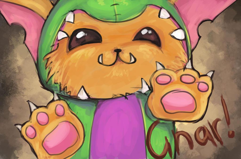 Gnar fan art from League of Legends by Hamzilla15