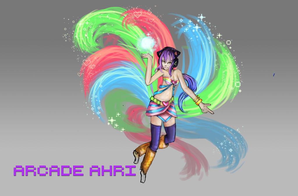 Arcade Ahri concept by Hamzilla15