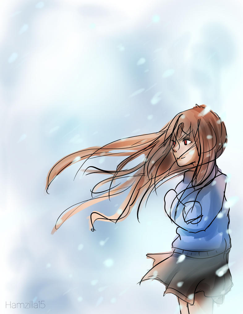 Anime Girl In The Cold By Hamzilla