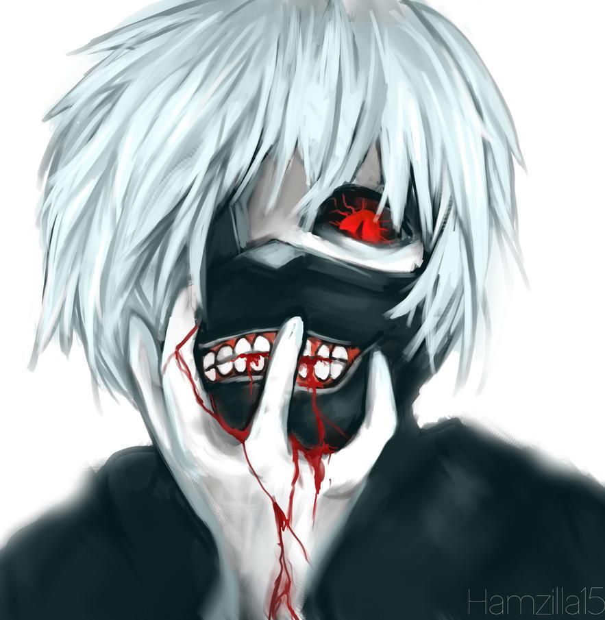 Kaneki Ken fan art Tokyo Ghoul by Hamzilla15
