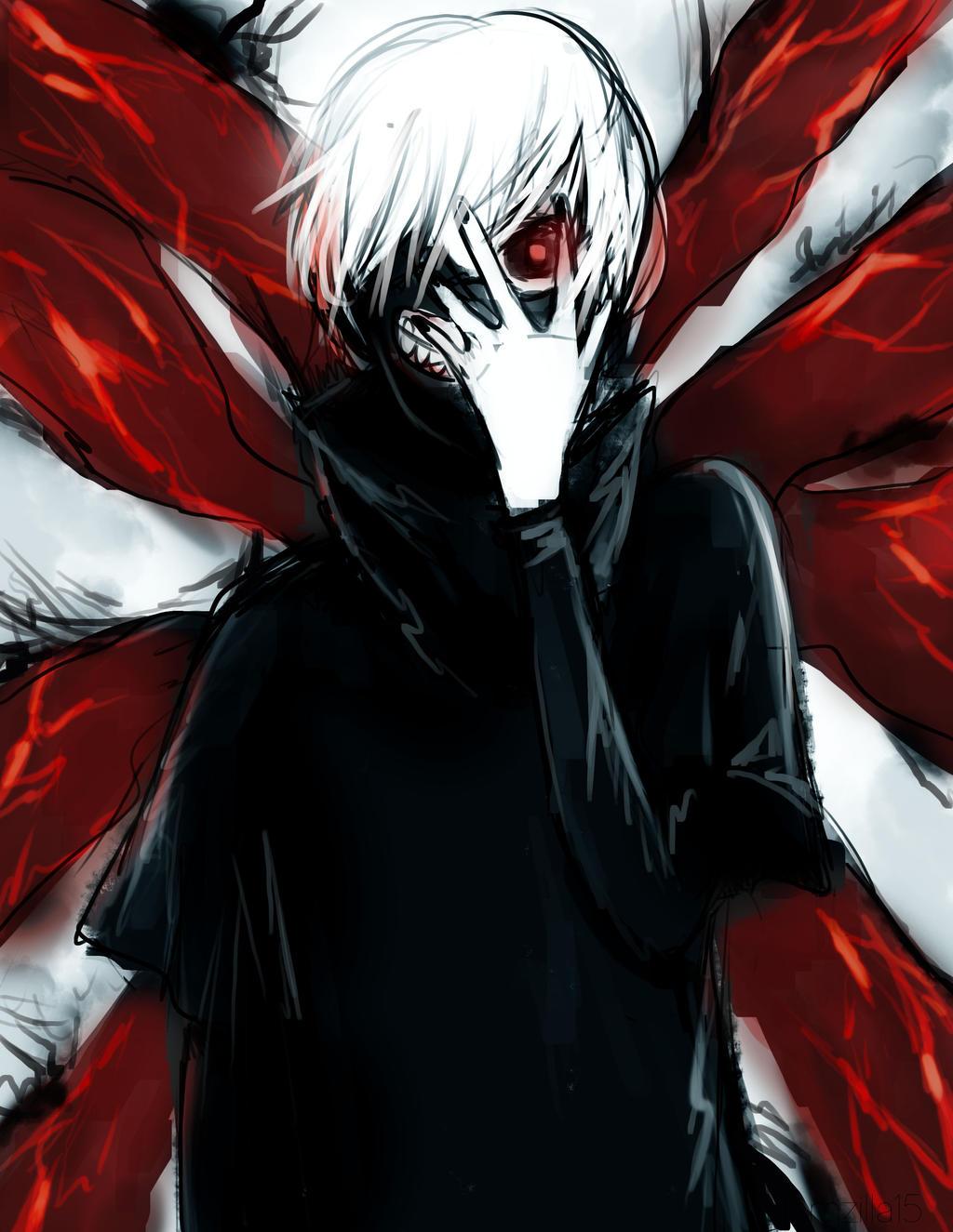 kaneki ken fan art tokyo ghoul by hamzilla15 watch fan art manga anime ...