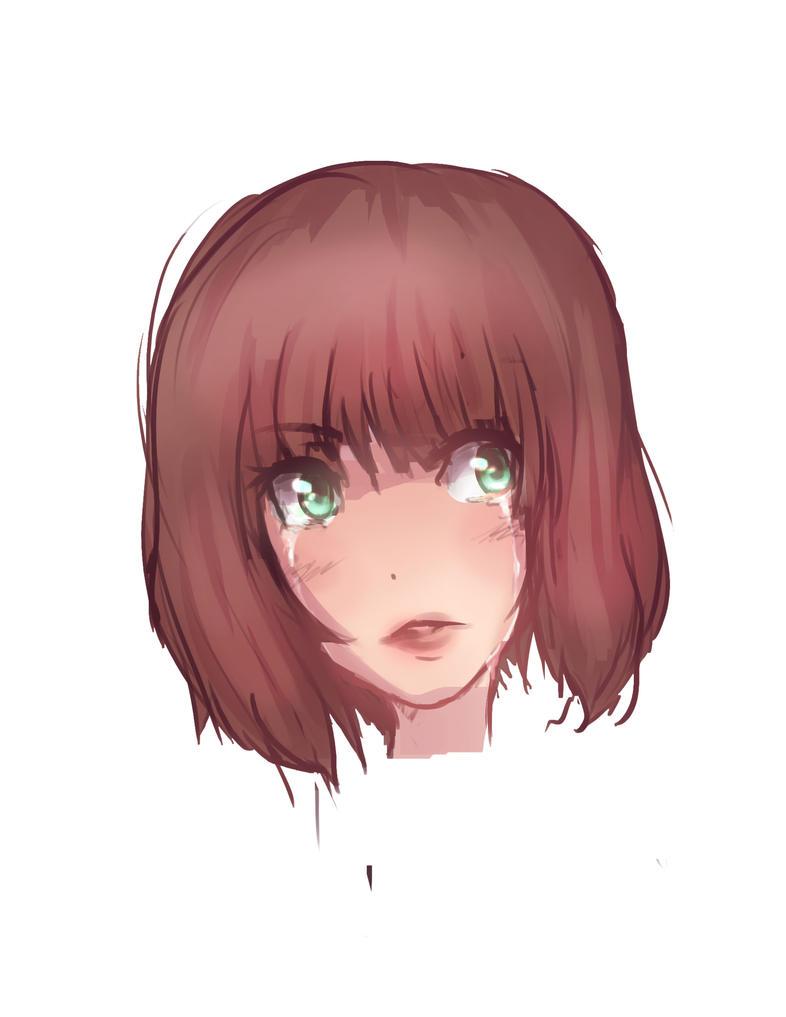 Crying girl doodle by Hamzilla15