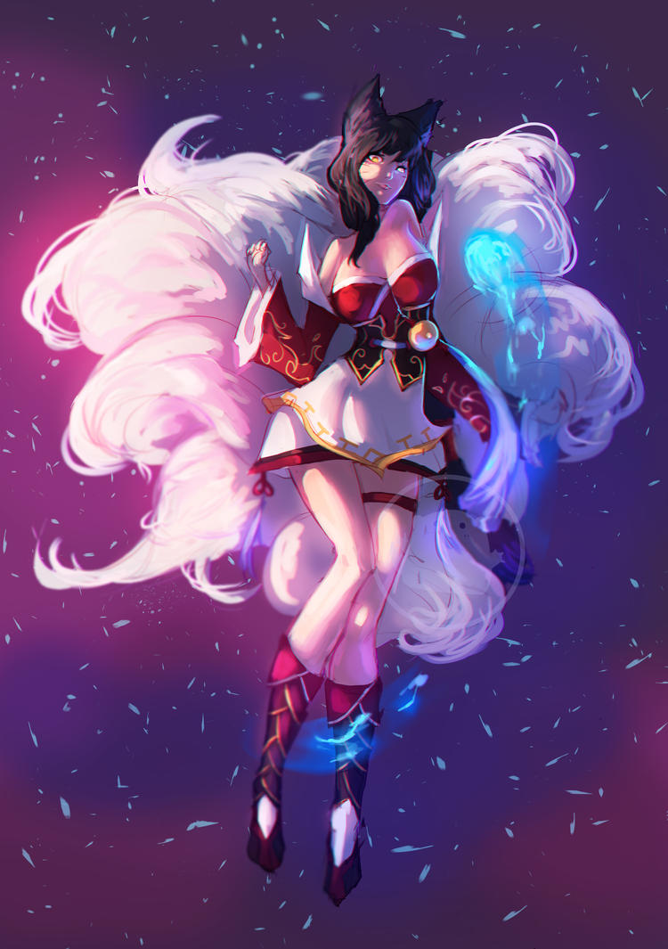 Ahri fan art by Hamzilla15