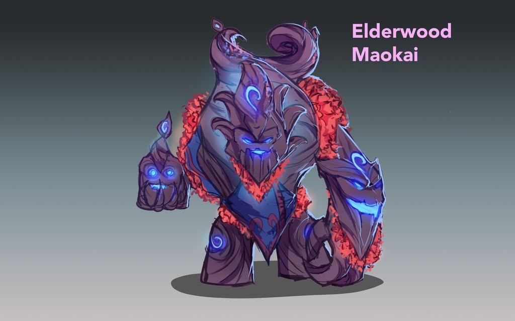 Elderwood Maokai skin concept by Hamzilla15