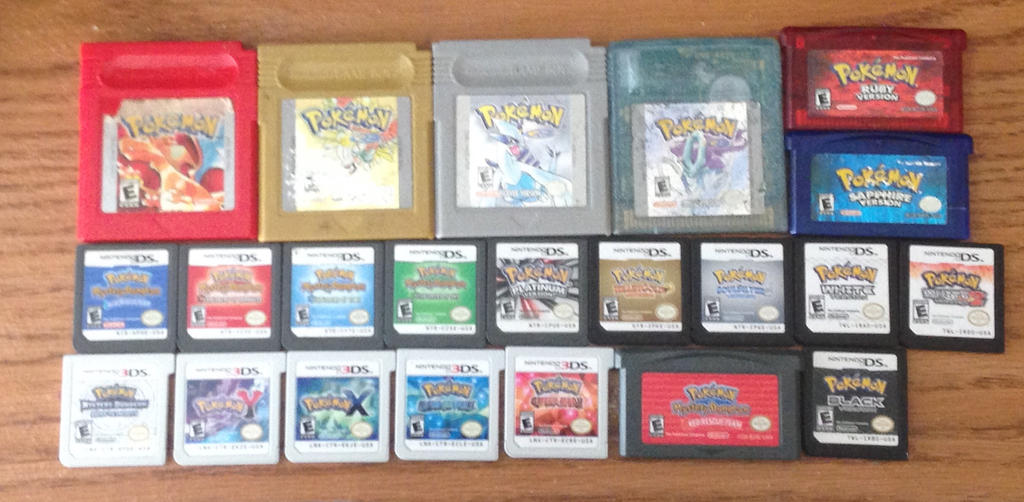 My Handheld Pokemon Game Collection 561514130
