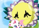 Blossy licks Palumon
