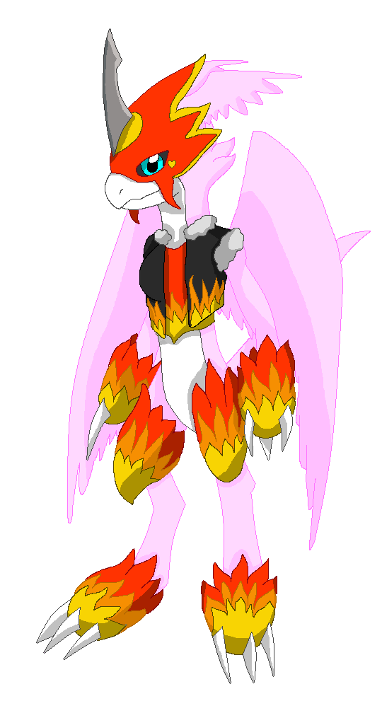 LadyFiremon redesign by HeroHeart001