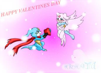 DxVeemon X Lovemon Happy Valentines day 2016