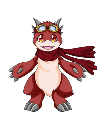 Sole blazing fire dragon