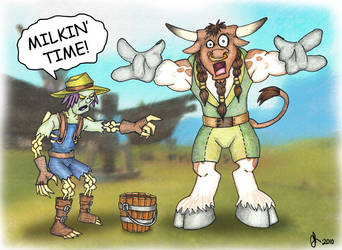 Milkin' Time by Deltethnia