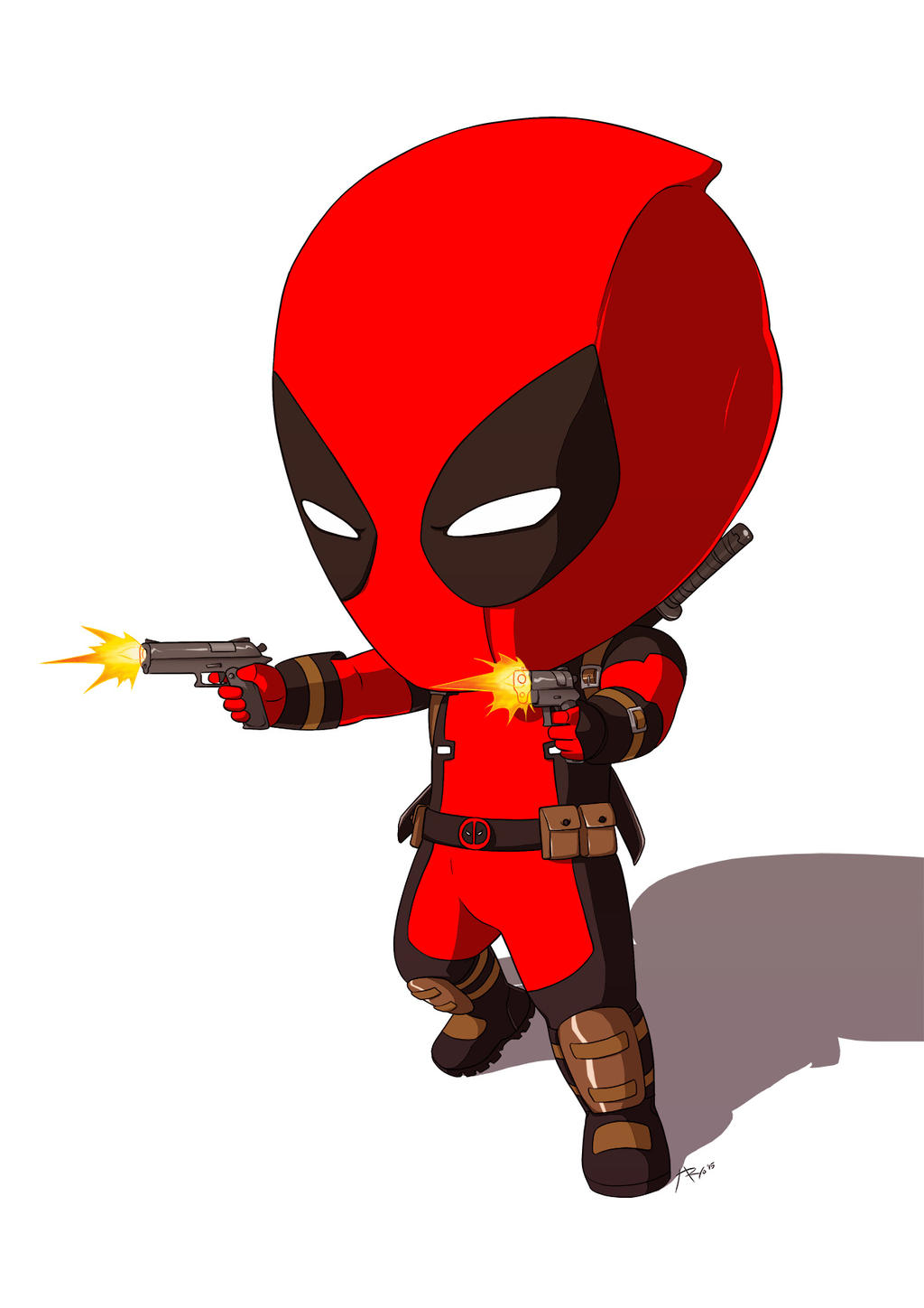 It's just a picture of Adaptable Chibi Deadpool Drawing