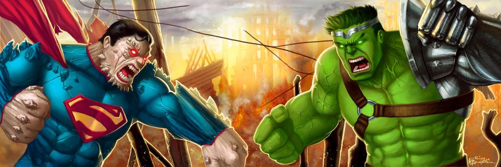 Superman Doomed Vs World War Hulk  by Nazuroth