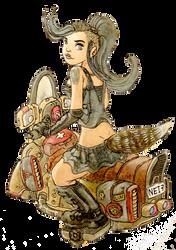 a biker kinda chick by galvo