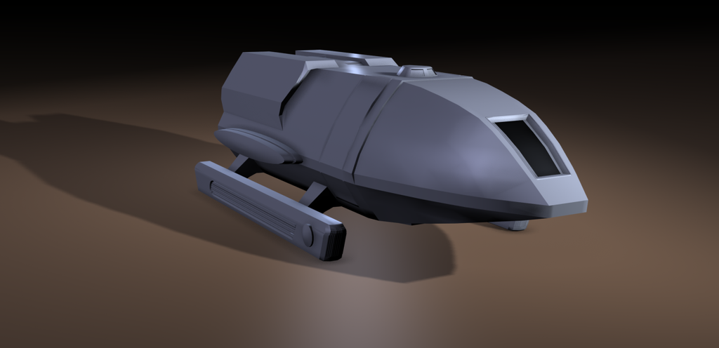 Type 3 Shuttlecraft (view 1) by Koruk