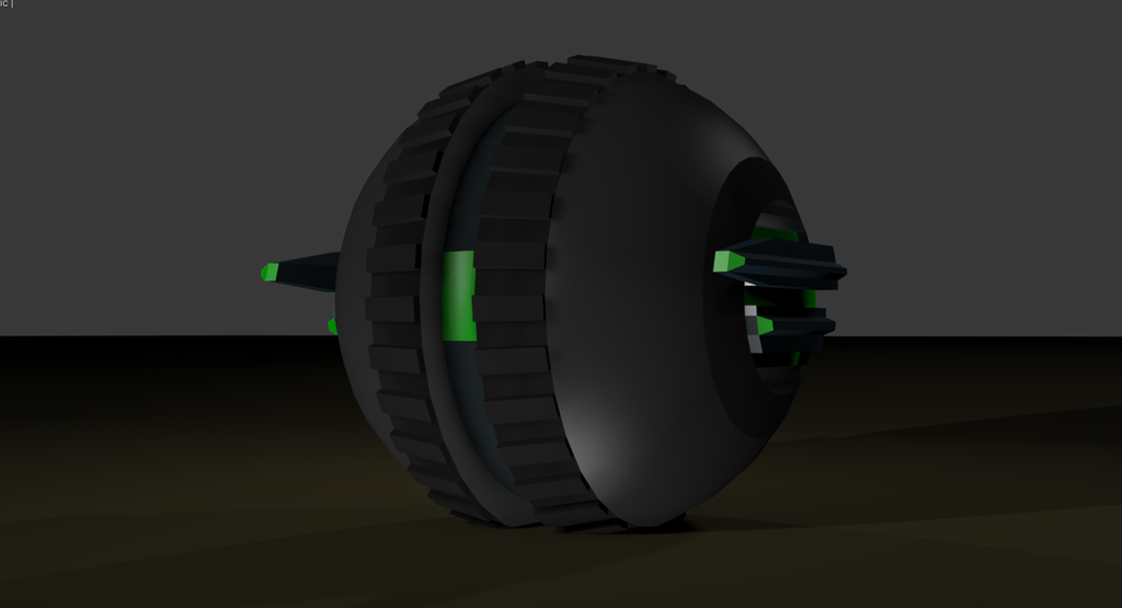 Borg Roller Drone (My first attempt at 3Ds Max) by Koruk