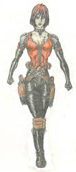 Cybergirl With Big Guns by sibok